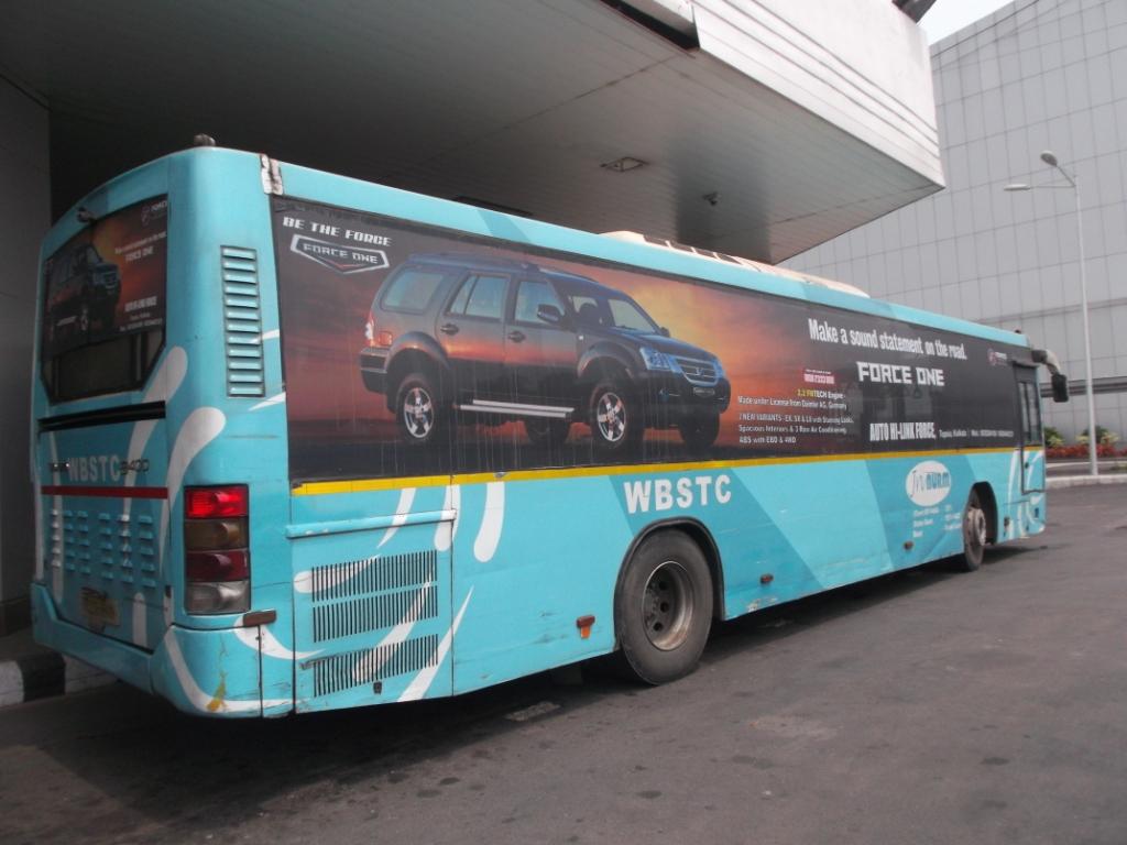 Kolkata - Volvo Bus Advertisement, Book ads on Kolkata - Volvo Bus